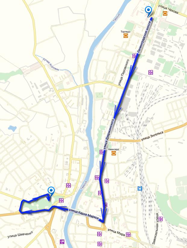 КАРТА велопробега в Торжке 1